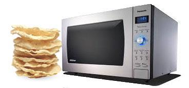 keropok tajmahal pappadam : Microwave